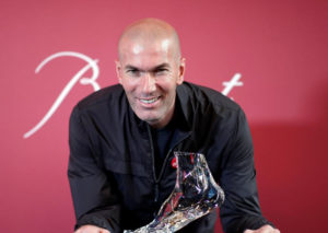 Zidane's foot in Baccarat Crystal at the benefice of ELA
